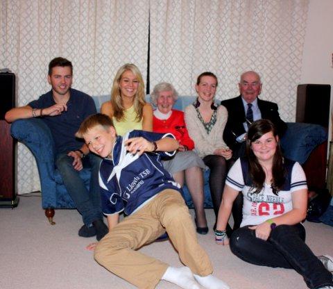 Swanson med alla barnbarn