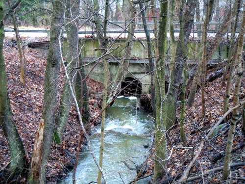Igelbäcken genom bron till Ulriksdals Stlottspark kr
