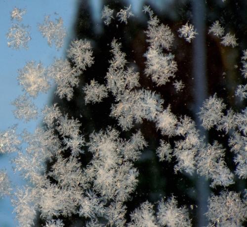 Vinter på balkongräcket b kr
