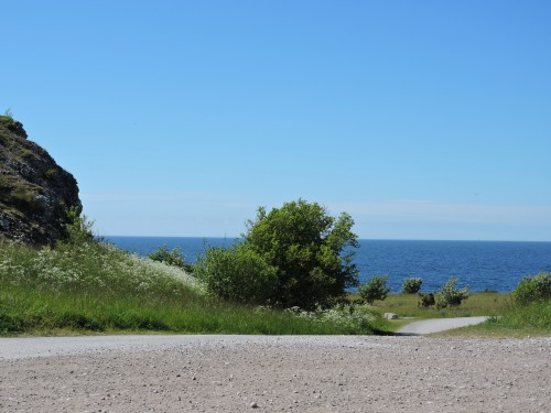 Gotland vägen ner till Hoburgsgubben