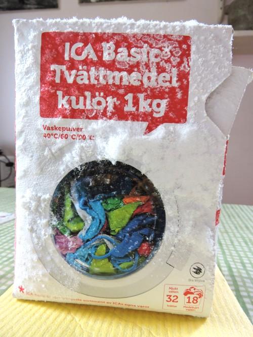 Gotland så här åldras ett paket tvättmedel över vintern